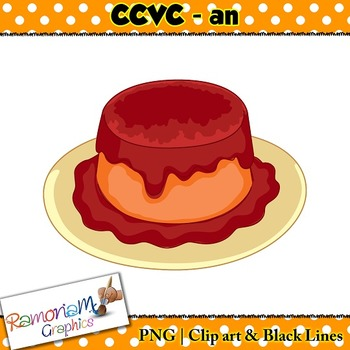 CCVC short vowel an clip art