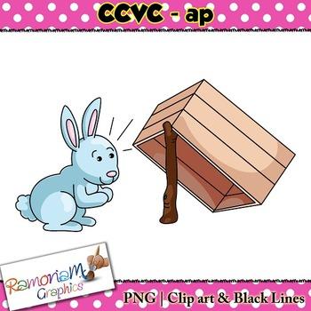CCVC short vowel ap clip art