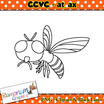 CCVC short vowel at, ax clip art