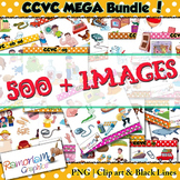 CCVC short vowel clip art Bundle
