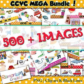 CCVC short vowel clip art Bundle