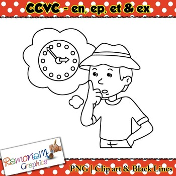 CCVC short vowel en, ep, et, ex clip art