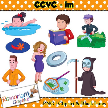 CCVC short vowel im clip art