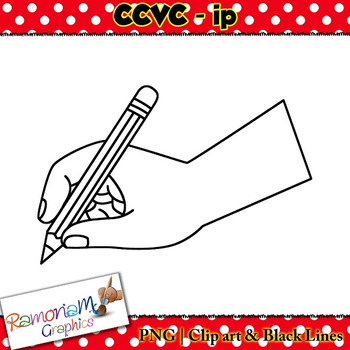 CCVC short vowel ip clip art