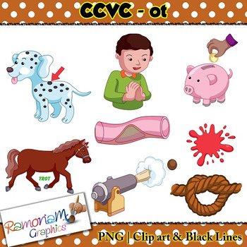 CCVC short vowel ot clip art