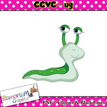 CCVC short vowel ug clip art