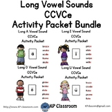 CCVCe Long Vowel Sounds Activity Packet and Worksheets Bundle