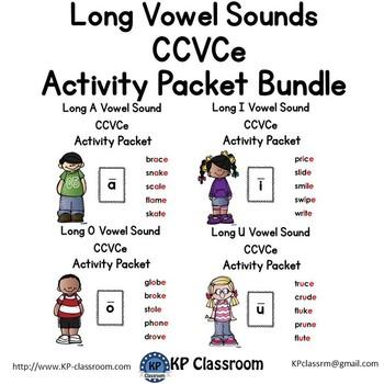 CCVCe Long Vowel Sounds Activity Packet and Worksheets Bundle