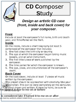 CD Case Composer Study (research project)