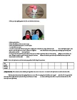CD HOVERCRAFT SCIENTIFIC METHOD PRACTICE LAB