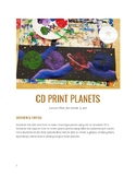 CD Monoprint Planets (Recycled Art)