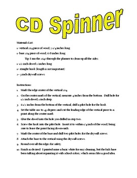 CD Spinner Directions