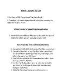 CDA Checklist for Candidates