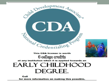 CDA (Child Development Associates) Guide power point for student and teacher
