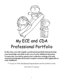 CDA (Child Development Associates) Professional Portfolio Workbook