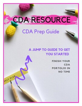 nine learning experiences for cda