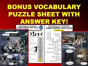 CDC Zombie Webquest (FREE Internet Resource / Questions / Vocabulary Puzzle)