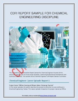 cdr report sample for chemical engineering discipline by writecdr