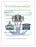 CE.7 Virginia Branches of Government Webquest