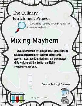 CE Mixing Mayhem--comparison of fractions, decimals, ratios using tape diagrams
