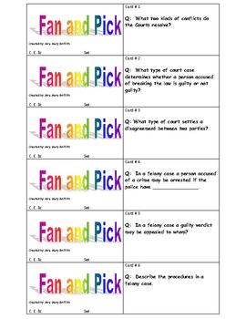 C.E.8c-Courtroom Procedures Fan and Pick