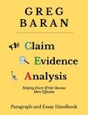 CEA (Claim Evidence Analysis) Academic Paragraph and Essay Templates