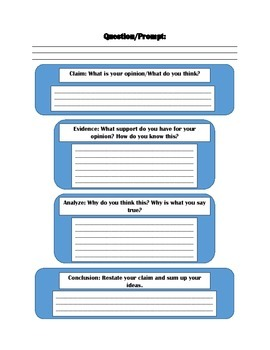 CEAC Writing Style Graphic Organizer