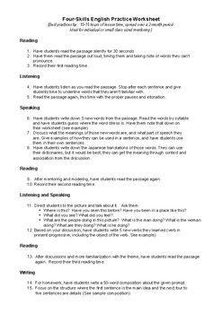 CEFR-informed worksheet template