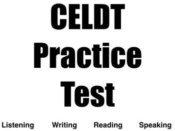 CELDT Practice Test: High School
