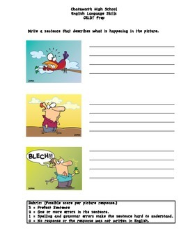 CELDT Sentence Practice