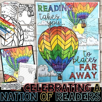 CELEBRATE A NATION OF READERS COLLABORATIVE POSTER, READ ACROSS AMERICA