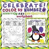 CELEBRATE NEW YEAR'S WITH A PENGUIN COLOR BY NUMBER FOR AD