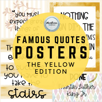 CELEBRITY QUOTES POSTERS (yellow)