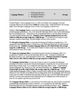 CELF-5 (9-21) Report Template