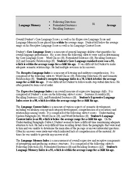 Speech Therapy-CELF-5 (9-21) Report Template