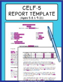 CELF-5 Report Template {5-8 & 9-21}