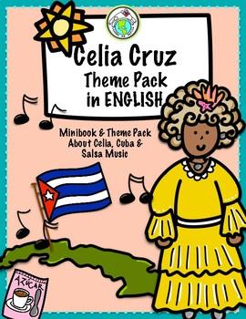 CELIA CRUZ Mini book and Activity Pack in ENGLISH