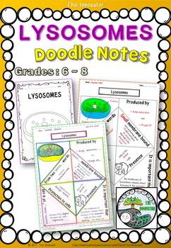 """CELL - LYSOSOMES - """"Doodle Notes"""""""
