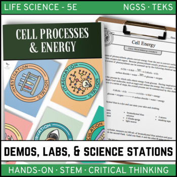 CELL: PROCESSES AND ENERGY  - Demos, Labs and Science Stations