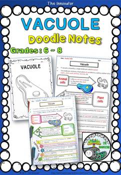 """CELL - VACUOLE - """"Doodle Notes"""""""
