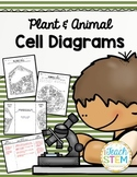 CELLS Blank Plant & Animal Cell Diagrams: Note Taking/Assessment