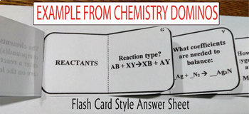 CELLS DOMINO REVIEW~ 24 Cards + Answer Sheets + Key- BIOLOGY & ANATOMY