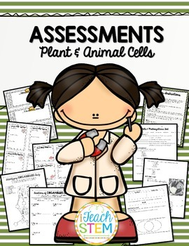 CELLS Test Quiz Exit Slips - Multiple Choice and Short Answer Assessments
