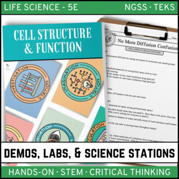 CELLS: STRUCTURE AND FUNCTION - Demos, Lab & Science Stations