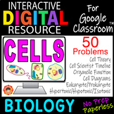 CELLS STRUCTURE & FUNCTION ~Digital Resource for Google Classroom~ Biology