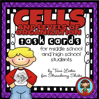 CELLS Task Cards for Middle and High School Biology Life Science