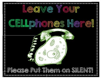 CELLphone Policy Poster