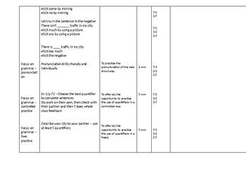CELTA Lesson Plan quantifiers pre-interm
