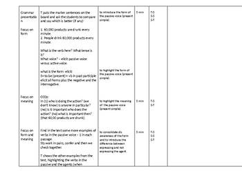 CELTA Lesson Plan Pre-intermediate Passive Voice and Reading