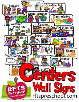CENTERS: CLASSROOM WALL SIGNS